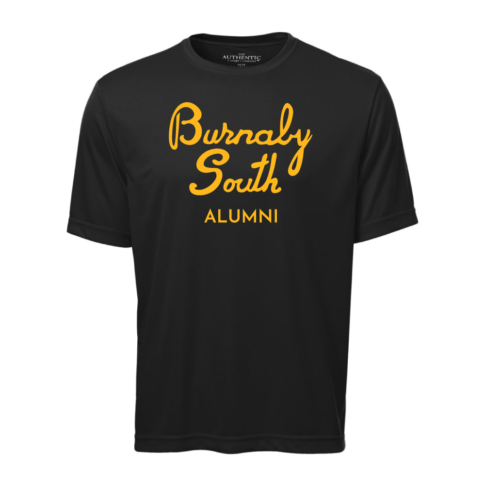 Rebels Alumni ATC™ Short Sleeve Performance Shirt - Vintage Burnaby South Logo - Black