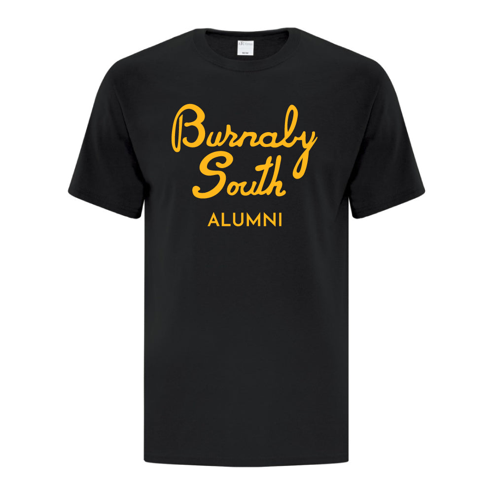 Rebels Alumni ATC™ Short Sleeve T-Shirt - Vintage Burnaby South Logo - Black