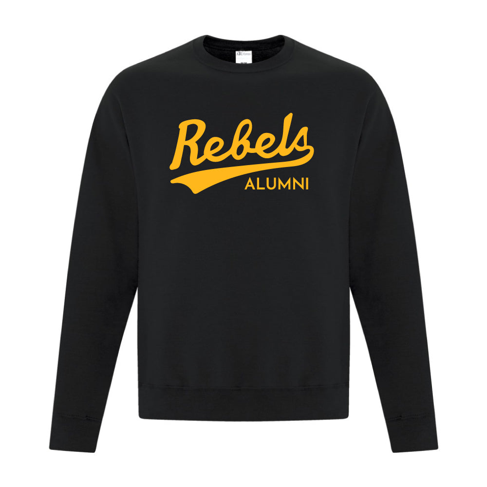 Rebels Alumni ATC™ Crewneck Sweatshirt - Vintage Rebels Logo - Black