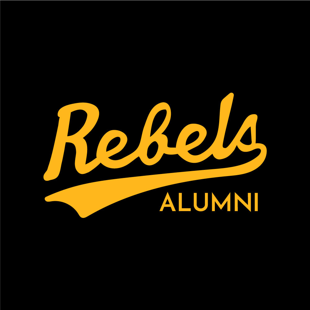 Rebels Alumni ATC™ Short Sleeve Performance Shirt - Vintage Rebels Logo - Black