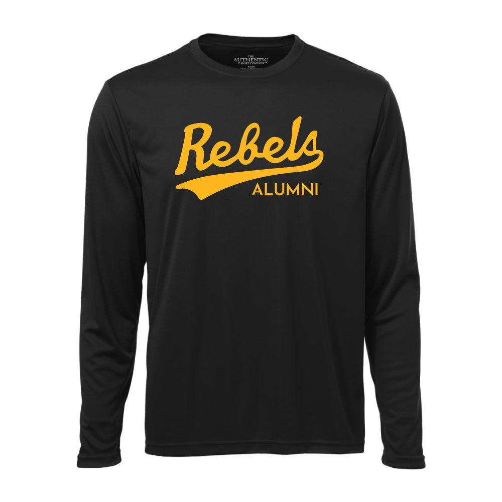 Rebels Alumni ATC™ Long Sleeve Performance Shirt - Vintage Rebels Logo - Black