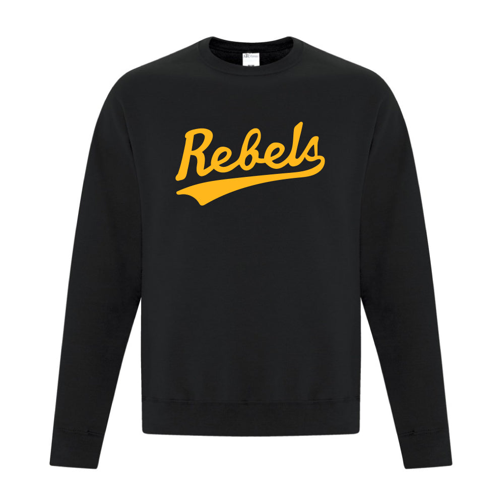 Rebels Athletics ATC™ Crewneck Sweatshirt - Vintage Rebels Logo - Black