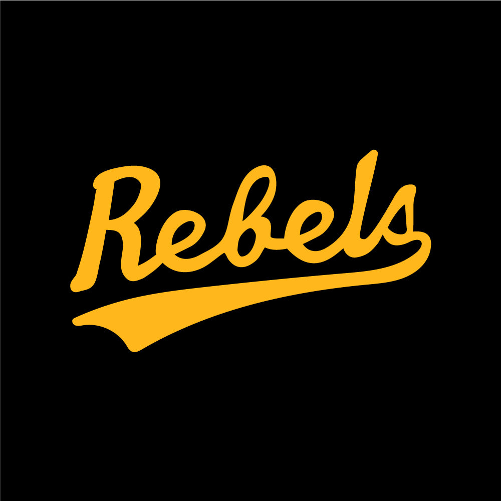 Rebels Athletics ATC™ Short Sleeve T-Shirt - Vintage Rebels Logo - Black