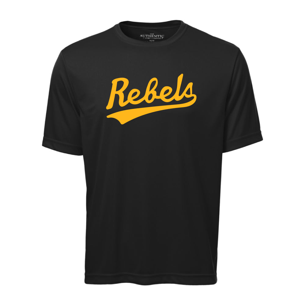 Rebels Athletics ATC™ Short Sleeve Performance Shirt - Vintage Rebels Logo - Black