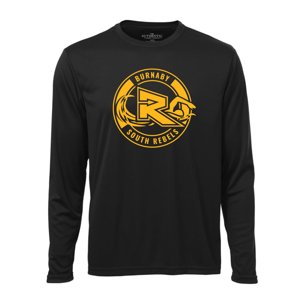 Rebels Swimming ATC™ Long Sleeve Performance Shirt - Black
