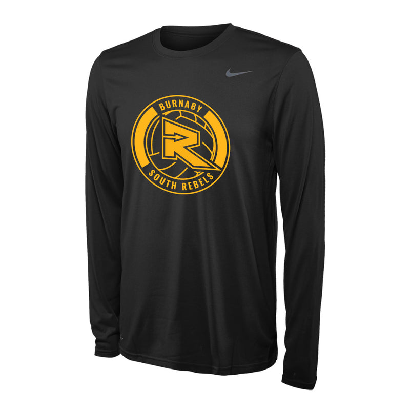 Rebels Volleyball Nike® Legend Performance Long Sleeve Tee - Black