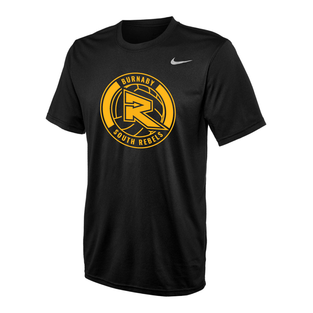 Rebels Volleyball Nike® Legend Short Sleeve Performance Tee - Black