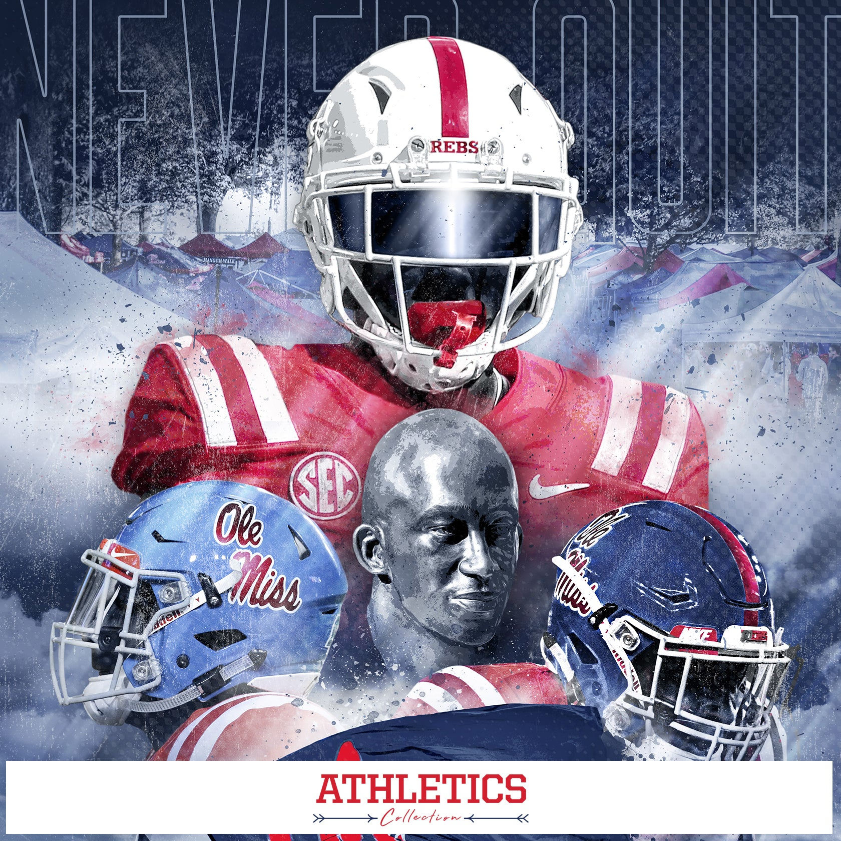 Ole Miss Rebels - Athetics Collection - Available as Canvas, Wood, Poster, Metal, Acrylic, Wall Decal and PVC Wall Arts