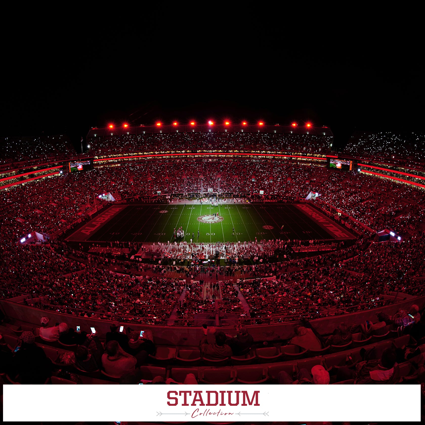 Alabama Crimson Tide - Stadium Photo Canvas Prints