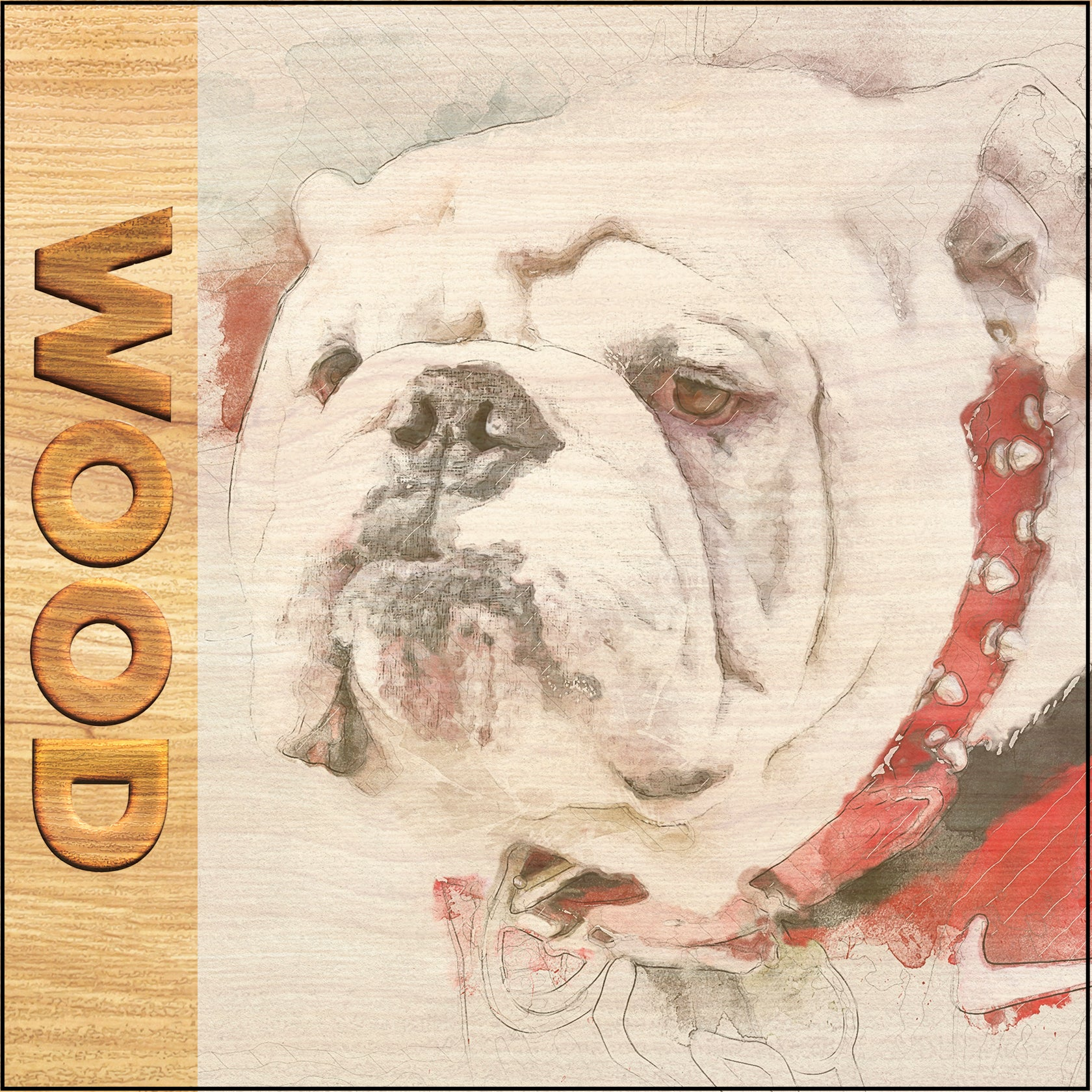 Georgia Bulldogs - Wood
