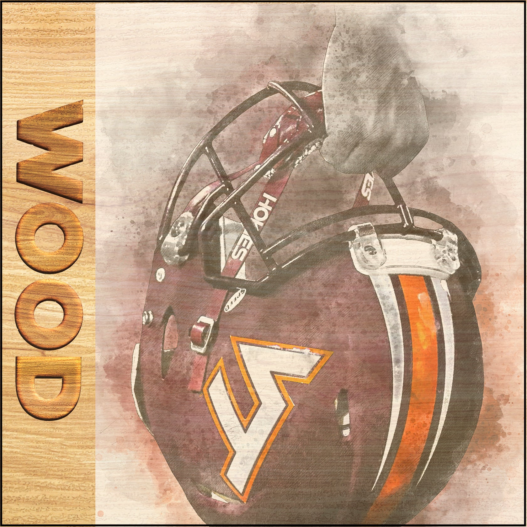 Virginia Tech Hokies - Wood