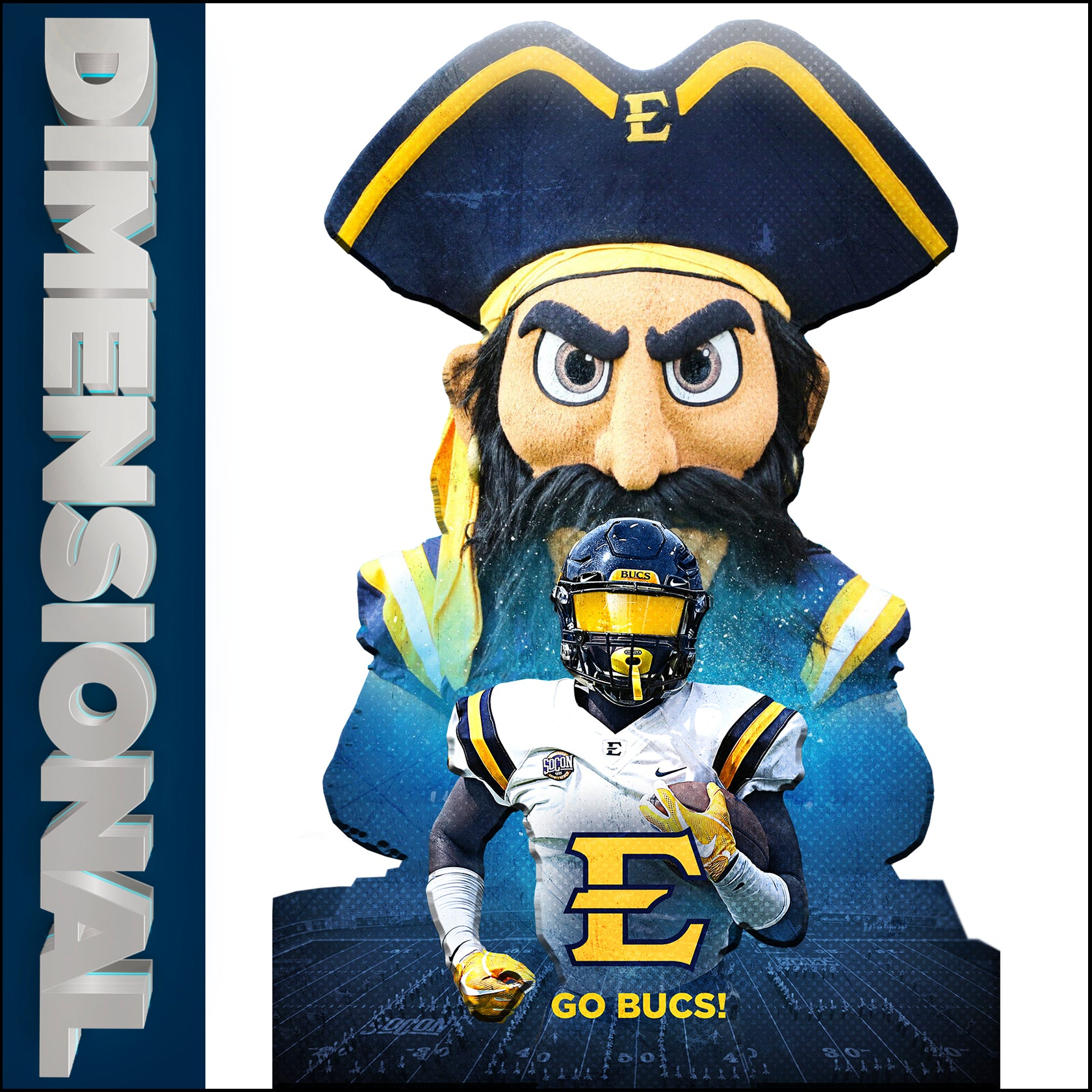 East Tennessee State University - Multi Layered Dimensional Wall Art