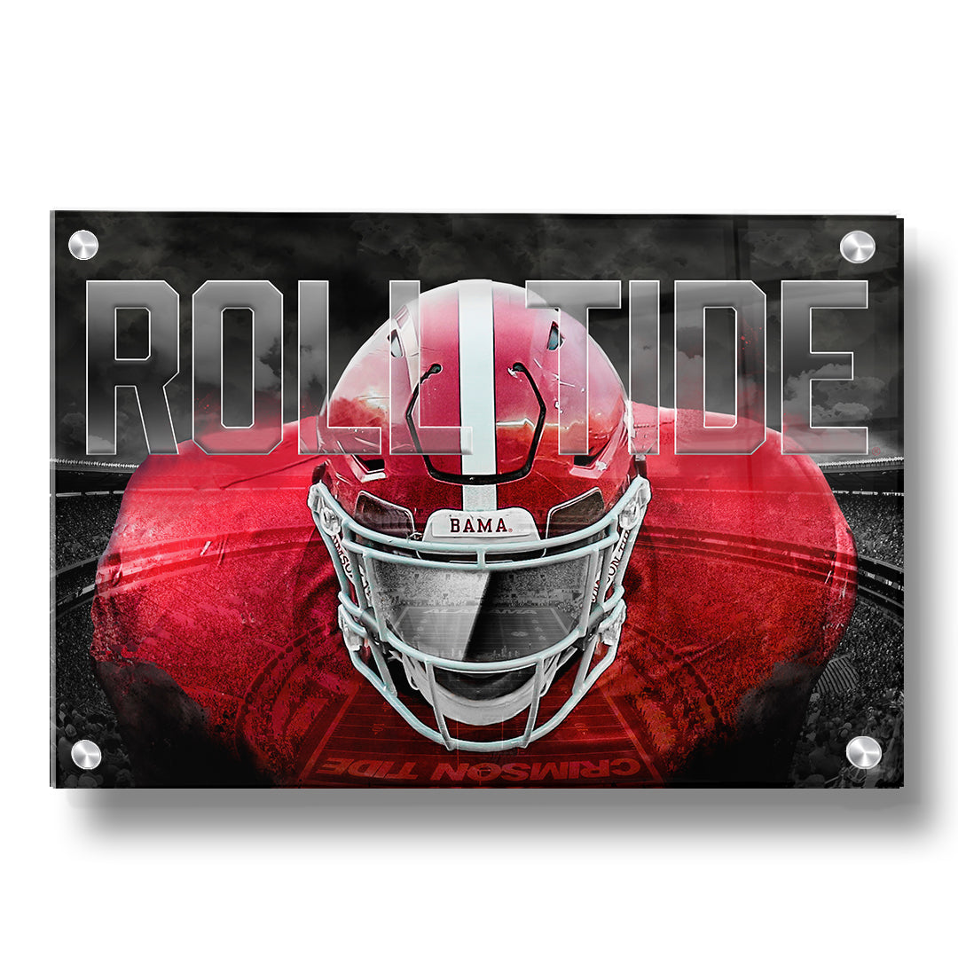 Alabama Crimson Tide - BAMA BRING IT - Two Layer Acrylic Dimensional Wall Art