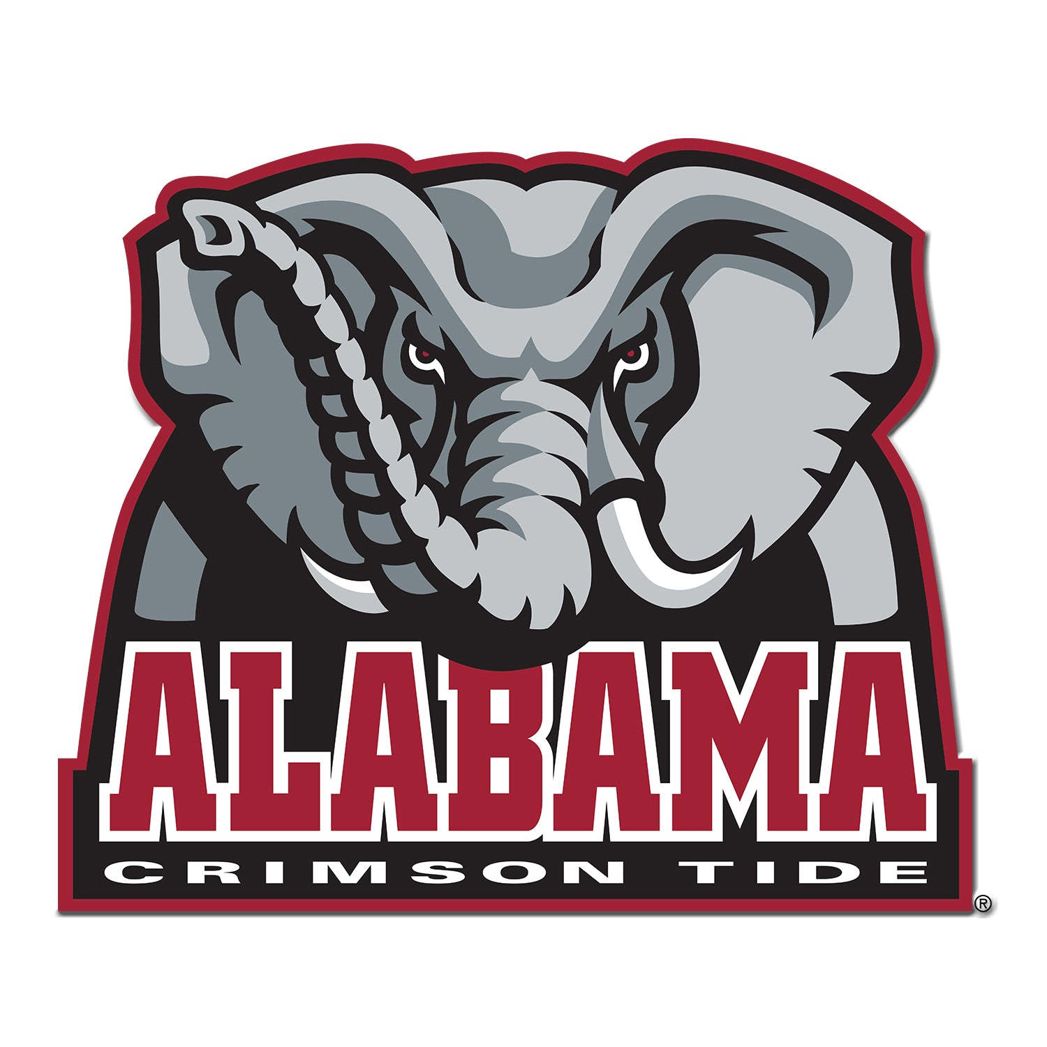 Alabama Crimson Tide -  Alabama Crimson Tide Elephant Single Layer Dimensional