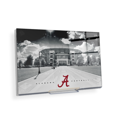 Alabama Crimson Tide - Bryant Denny Black & White - College Wall Art #Acrylic Mini