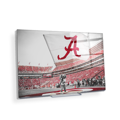 Alabama Crimson Tide - Big Al Flag - College Wall Art#Acrylic Mini