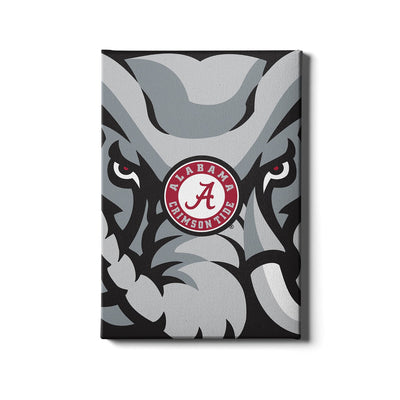 Alabama Crimson Tide - Crimson Elephant - College Wall Art #Canvas