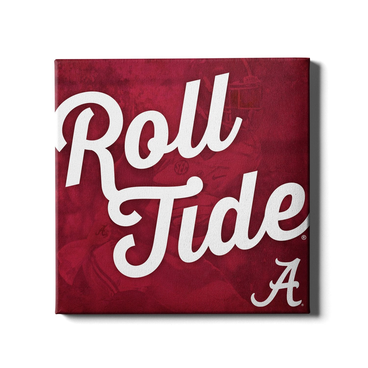Alabama Crimson Tide - Roll Tide A - College Wall Art #Canvas