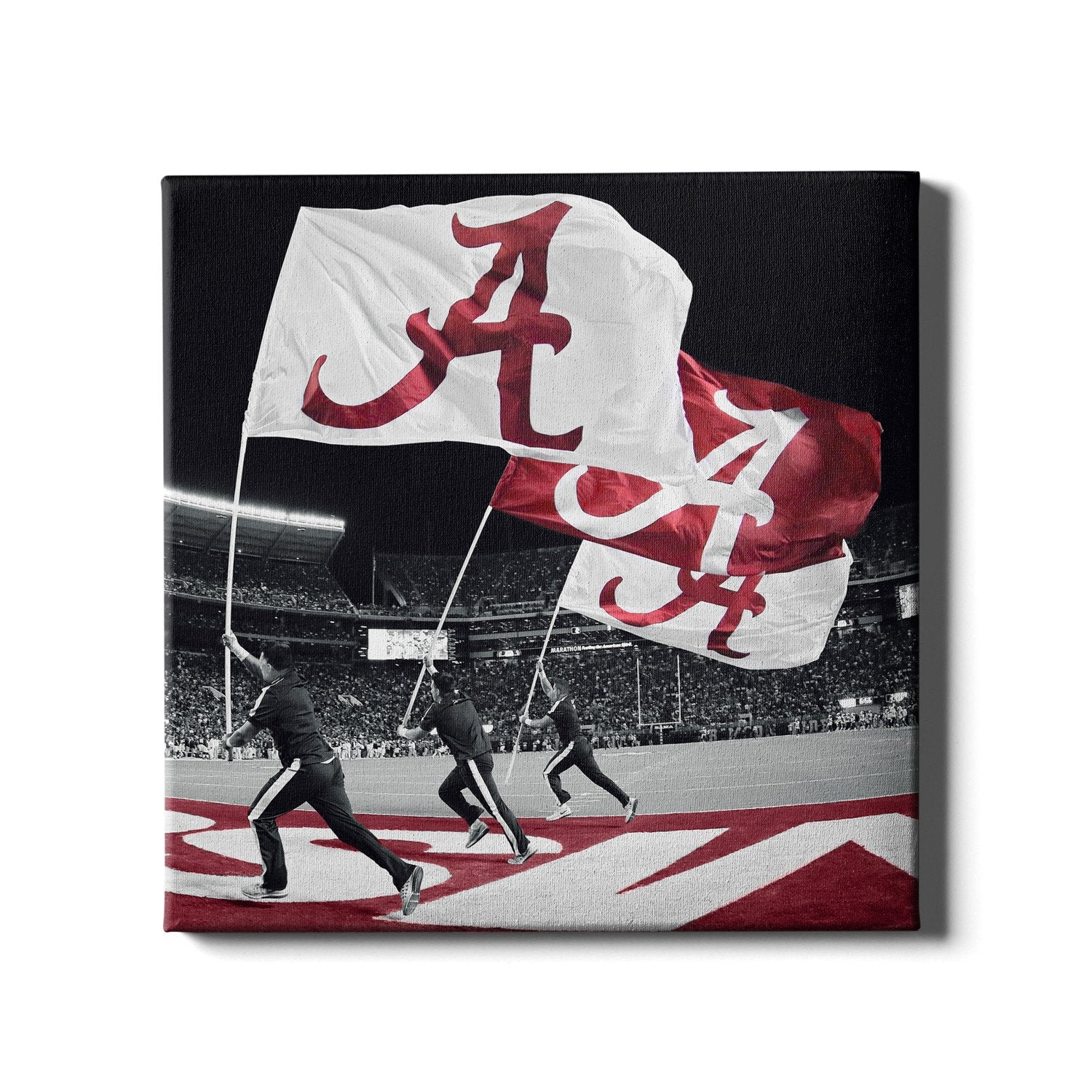 Alabama Crimson Tide - Alabama Flags - College Wall Art #Canvas
