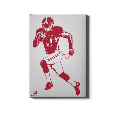 Alabama Crimson Tide - Bama Illustration - College Wall Art #Canvas