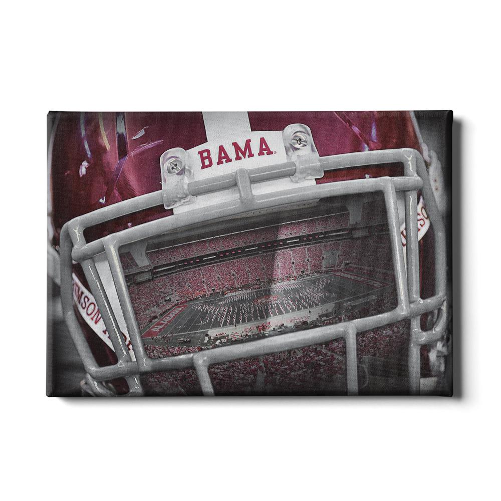 Alabama Crimson Tide - Bama Helmet #Canvas