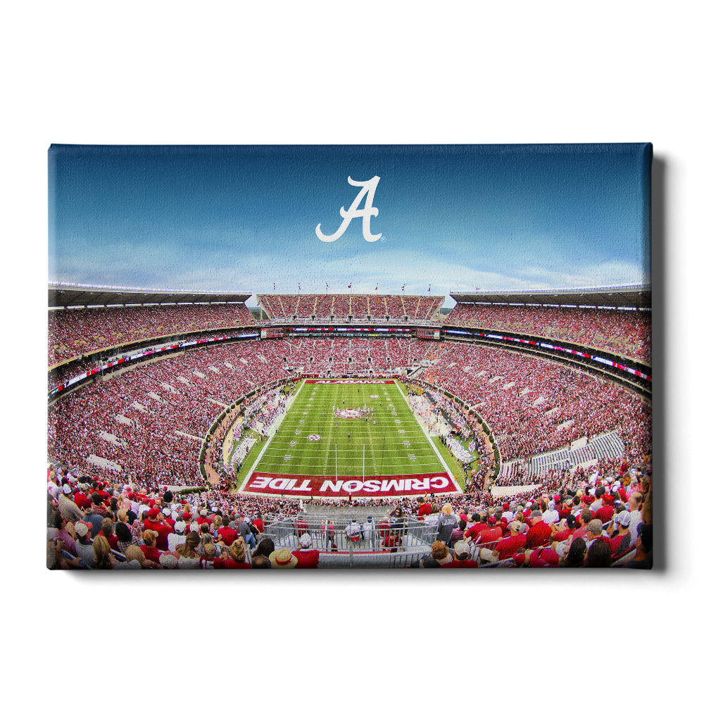 Alabama Crimson Tide - Bryant Denny A - College Wall Art #Canvas