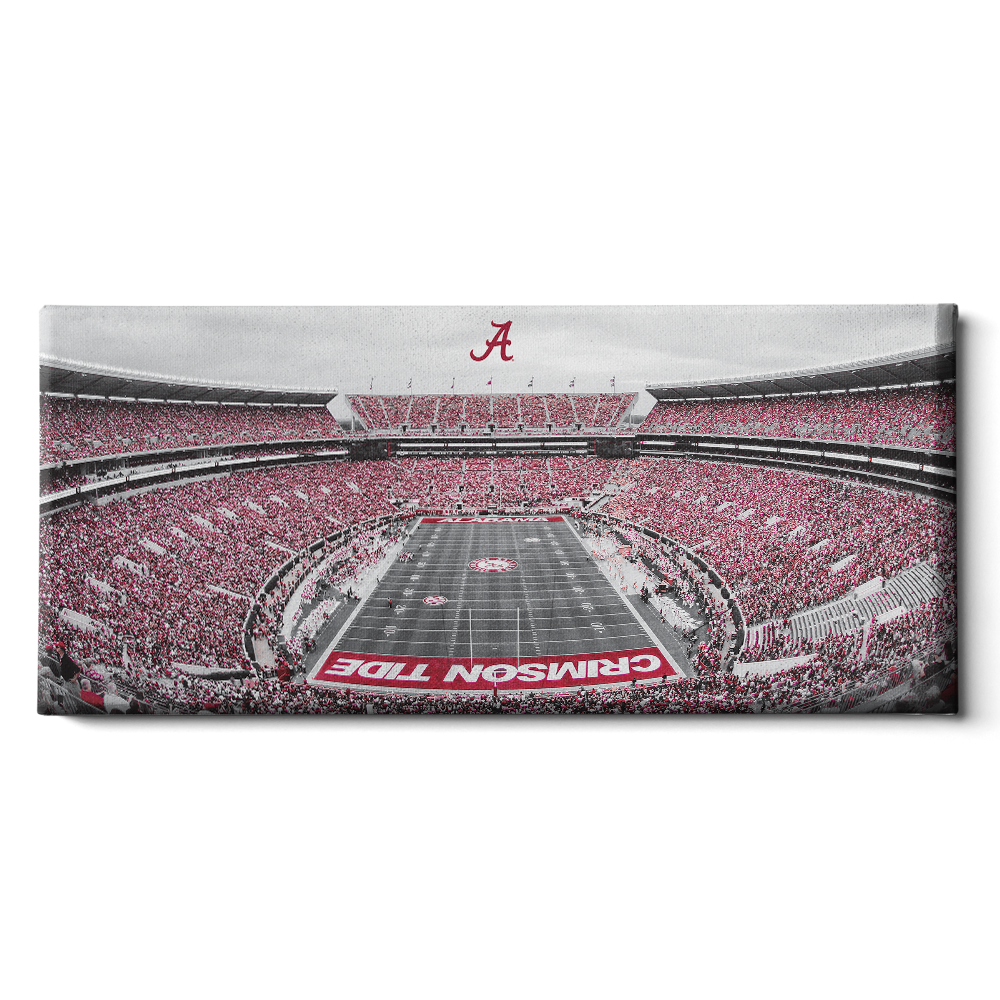 Alabama Crimson Tide - Bryant Denny Panoramic - College Wall Art #Canvas