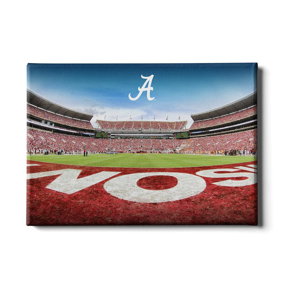 Alabama Crimson Tide - Bama End Zone - College Wall Art #Canvas