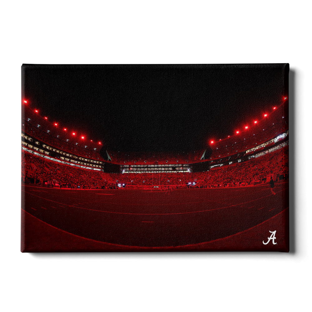 Alabama Crimson Tide - Alabama Lights - College Wall Art #Canvas