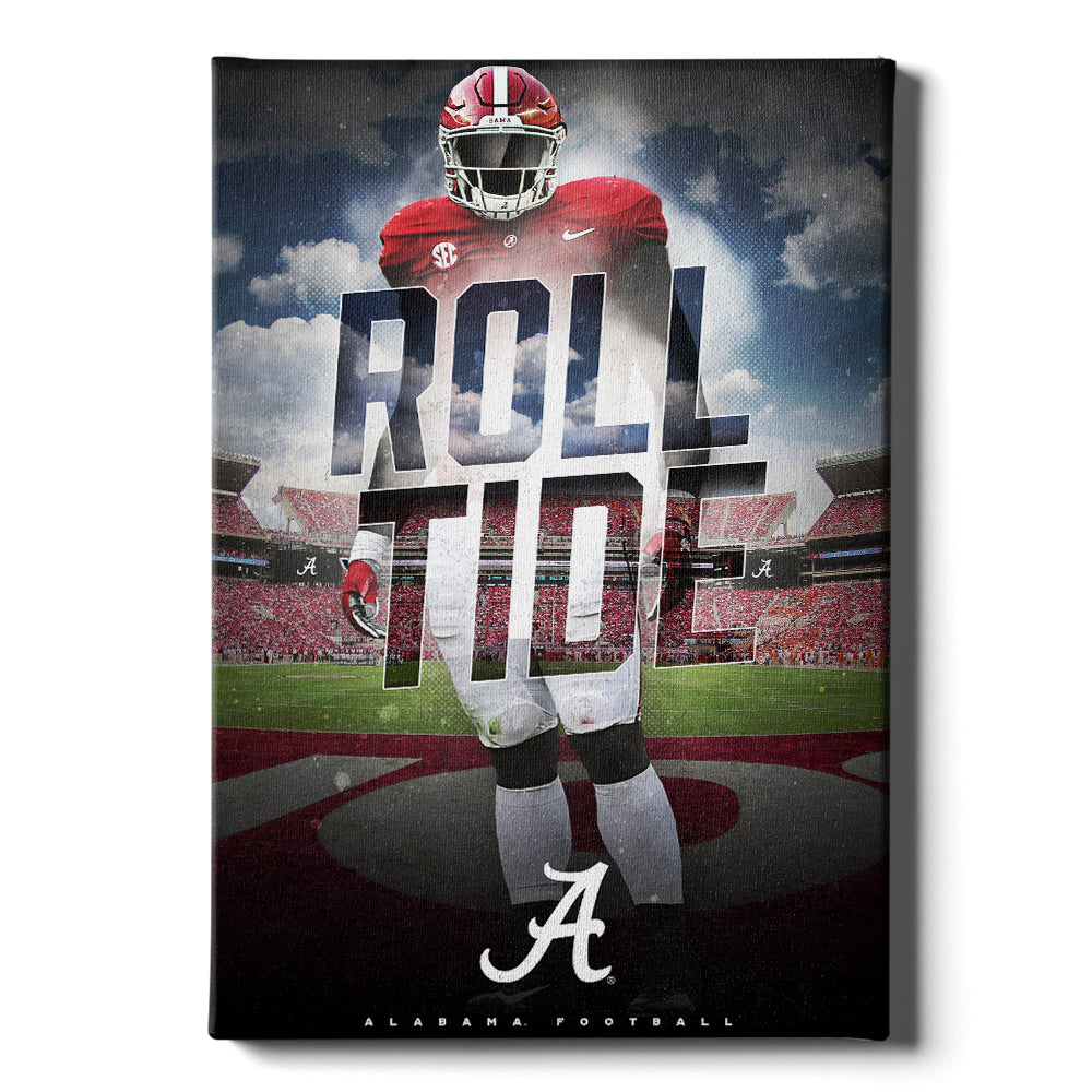 Alabama Crimson Tide - Bama Tough - College Wall Art #Canvas