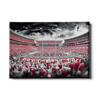 Alabama Crimson Tide - Bryant Denny Monochrome - College Wall Art #Canvas