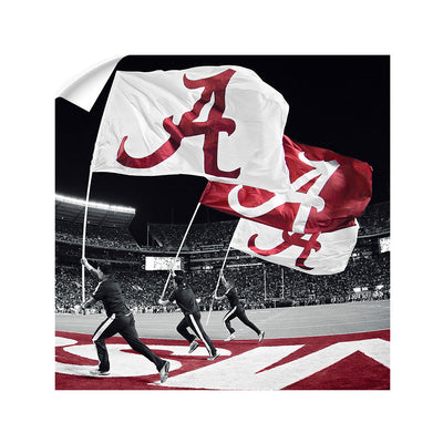 Alabama Crimson Tide - Alabama Flags - College Wall Art #Wall  Decal