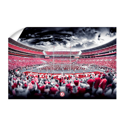 Alabama Crimson Tide - Bryant Denny Monochrome - College Wall Art #Wall Decal
