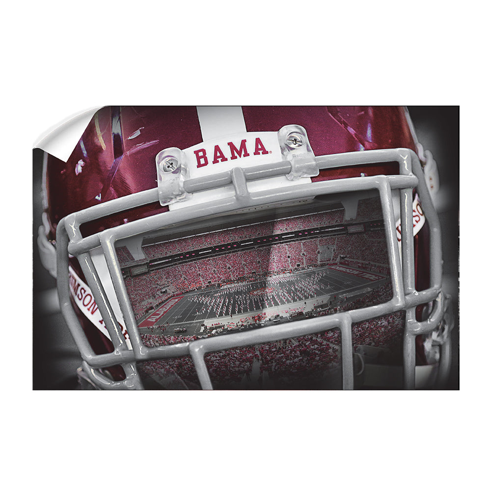 Alabama Crimson Tide - Bama Helmet - College Wall Art #Canvas