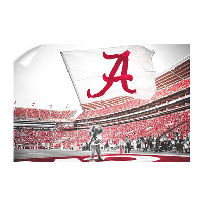 Alabama Crimson Tide - Big Al Flag - College Wall Art #Wall Decal