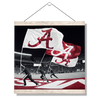 Alabama Crimson Tide - Alabama Flags - College Wall Art #Hanging Canvas