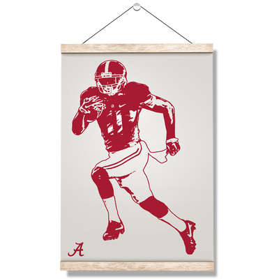 Alabama Crimson Tide - Bama Illustration - College Wall Art #Hanging Canvas