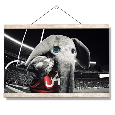 Alabama Crimson Tide - Big Al End Zone - College Wall Art #Hanging canvas