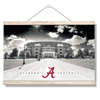 Alabama Crimson Tide - Bryant Denny Black & White - College Wall Art #Hanging Canvas
