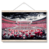 Alabama Crimson Tide - Bryant Denny Monochrome - College Wall Art #Hanging Canvas