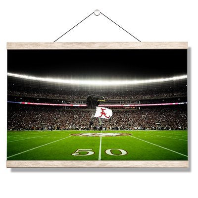 Alabama Crimson Tide - Pin Point Landing - College Wall Art#Hanging Canvas