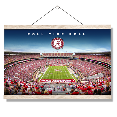 Alabama Crimson Tide - Roll Tide Roll - College Wall Art#Hanging Canvas