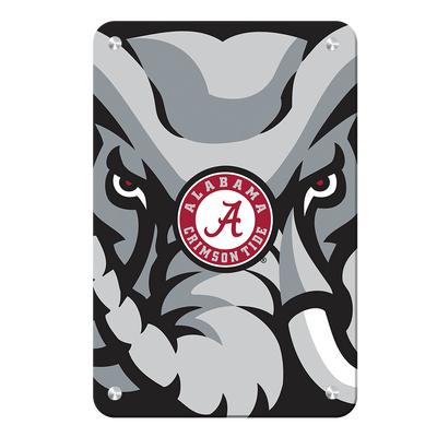 Alabama Crimson Tide - Crimson Elephant - College Wall Art #Metal