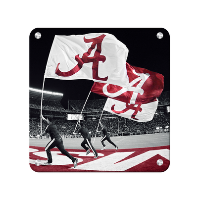 Alabama Crimson Tide - Alabama Flags - College Wall Art #Metal