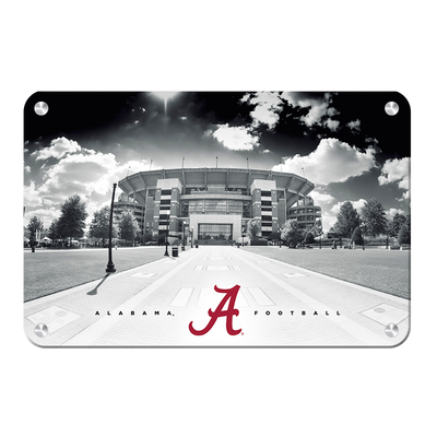 Alabama Crimson Tide - Bryant Denny Black & White - College Wall Art #Metal