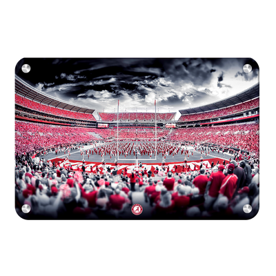 Alabama Crimson Tide - Bryant Denny Monochrome - College Wall Art #Metal