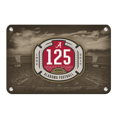 Alabama Crimson Tide - 125th Bama - College Wall Art #Metal