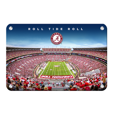 Alabama Crimson Tide - Roll Tide Roll - College Wall Art#Metal