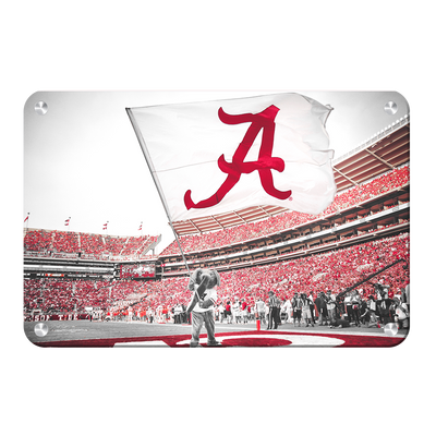 Alabama Crimson Tide - Big Al Flag - College Wall Art#Metal