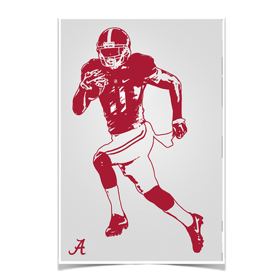 Alabama Crimson Tide - Bama Illustration - College Wall Art #Poster